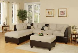 sectional living room sets amazon com bobkona hungtinton microfiber faux leather 3 piece