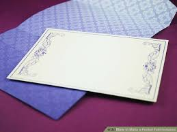 pocket envelopes how to make a pocket fold invitation 7 steps with pictures