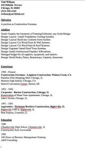 Resume Examples Construction by Resumes For Excavators Resume Samples Construction Resumes