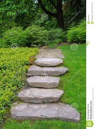 Rock Garden Steps by Large Rock Stone Steps And Flagstone Garden Path Stock Photo