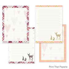 printable journal writing paper tartan writing paper stationary paper letter writing set this is a digital file