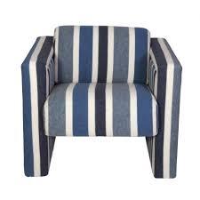 nautical chairs nautical club chairs in blue white wool pair bikoff