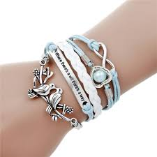 double charm bracelet images Infinite double leather multilayer charm bracelet factory price jpg