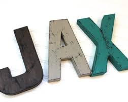 Reclaimed Wood Home Decor Rustic Home Decor Distressed Letters Wooden Letters