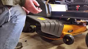 cub cadet rzt mulching kit install youtube