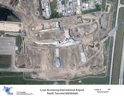 New Orleans Airport Map by Louis Armstrong New Orleans International Airport North Terminal