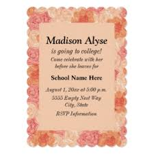 custom going to college invitations announcements zazzle co nz
