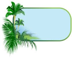 palm tree border psd official psds