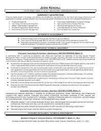 system architect resume system architect sample resume it