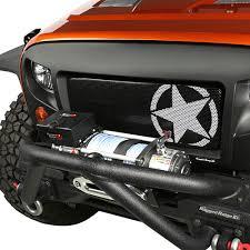 black military jeep rugged ridge spartan grille