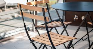 Metal Folding Bistro Chairs Bistro Naturel Chair Metal And Wood Chair Outdoor Furniture