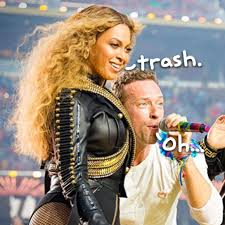 Chris Martin Meme - beyoncé coldplay super bowl team up worked great but only after