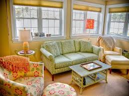 Cottage Style Sofa by Country Cottage Style Living Room With Floral Sofa And Club Chairs