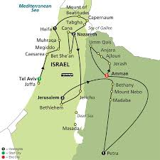 Dead Sea Map Vacation Overview