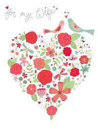 heart song for my wife birthday card karenza paperie
