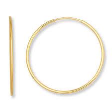 hoop earring endless hoop earrings 14k yellow gold 21mm