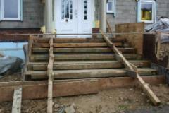 treppe einschalen treppe zum hauseingang bauunternehmen