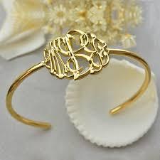 monogram bangle bracelet gold plated monogram bangle bracelet painted