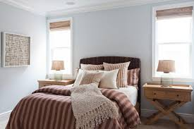 bedroom inspired seagrass headboard in bedroom beach style with