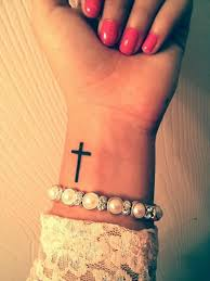my cross on my wrist it on the other side