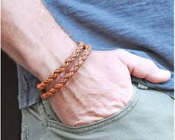 braid rope bracelet images Lucky dog leather braided leather rope bracelet double wrap tan jpg