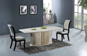 astonishing natural travertine dining table set high quality store