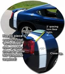 2010 dodge charger bee 2006 2010 dodge charger bumblebee style rear graphic kit 1