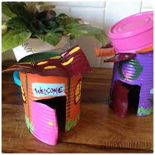 how to turn a tin can into a fairy garden house