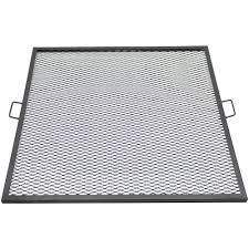 Fire Pit Mat by Sunnydaze X Marks Square Fire Pit Cooking Grill
