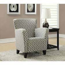Beige Club Chair Gray Chairs Living Room Furniture The Home Depot