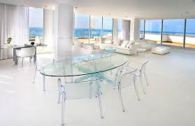 all glass dining room table 15 lovely glass table dining rooms home design lover