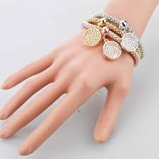 longway 2017 new fashion bracelets bangles jewelry gold color