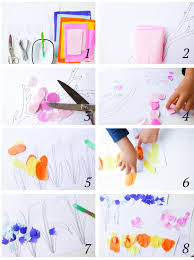 10 minute spring flower crafts for kids nature walk activity