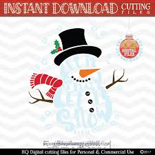 snowman svg let it snow svg 2 in 1 design bundles