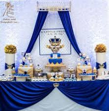 babyshower theme blue gold royal baby shower candy buffet crown pillow cake nae s