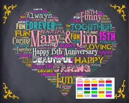 15th anniversary gifts personalized 15th anniversary gift 15th anniversary chalkboard 15th an
