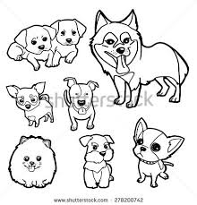 dogs friendly graphic faces stock vector 86249329