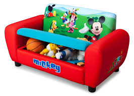 Mickey Mouse Activity Table Mickey Mouse Upholstered Sofa With Storage Delta Children U0027s Products