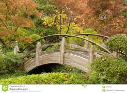 arch bridge in a japanese garden stock images image 33128764
