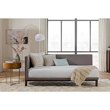 avenue greene mid century grey upholstered modern daybed free