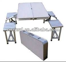 Folding Cing Table And 4 Stools Table And Chair Set Picnic Table