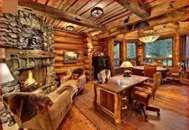 Log Cabin Area Rugs Impressive Interior Of Log Homes With Large River Rock Tile For