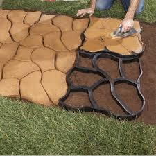 Shop Pavers U0026 Stepping Stones Building Walks And Patios With A Concrete Mold