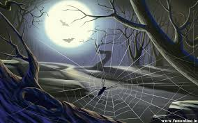 animated halloween desktop background scary spider wallpaper wallpapersafari