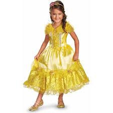 Girls Kids Halloween Costumes Disney Belle Deluxe Sparkle Girls U0027 Child Halloween Costume