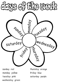 printable days of the week coloring pages 51 about remodel sheets