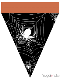 Halloween Templates Free Printable Diy Free Printable Halloween Triangle Banner Template Frugalful Com