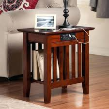 chairside table with charging station chairside table with charging station side table with charging