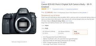 canon eos 6d black friday deal canon eos 6d mark ii for 1 789 grey market camera