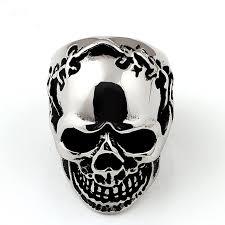 stainless steel skull ring shige te priced steel